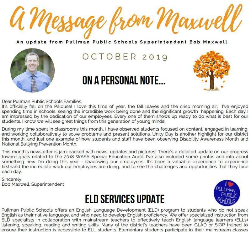 A Message from Maxwell: October 2019 Thumbnail Image