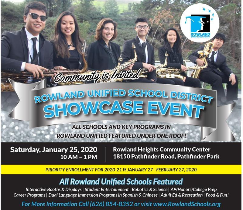 Community Invited to RUSD SHOWCASE EVENT Saturday, January 25! Thumbnail Image