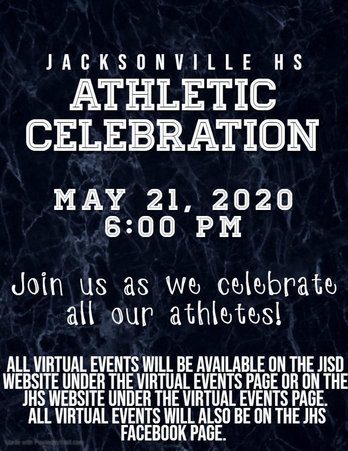 invite for virtual athleticd celebration