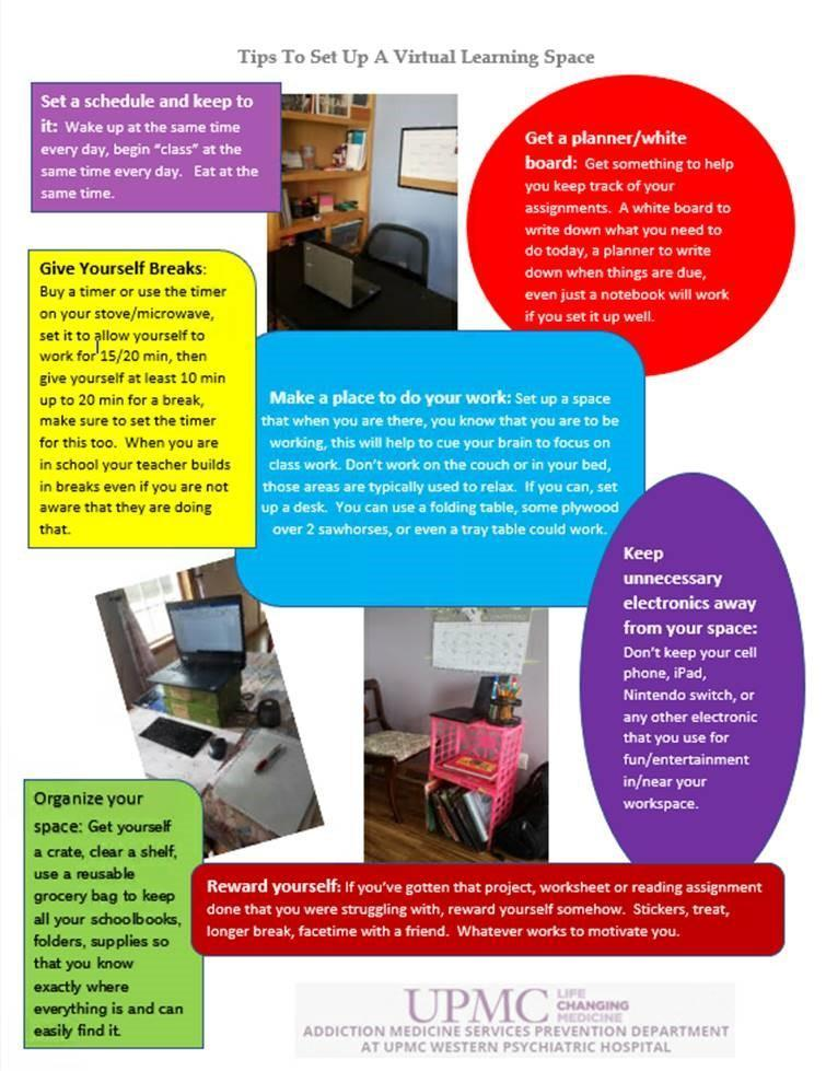 poster of Tips for Virtual Learners