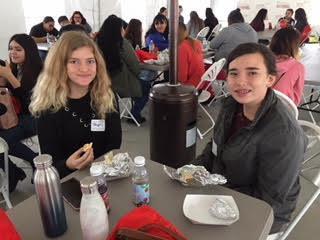 Students enjoying breakfast