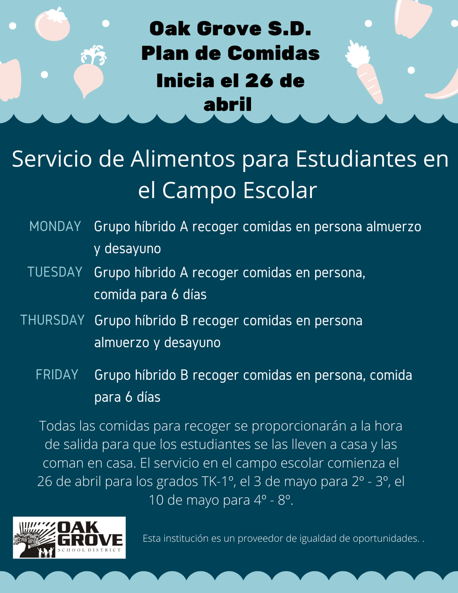 Spanish On Campus Meal Service