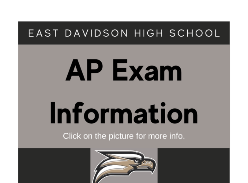 AP Exam Info - Click on the picture for more information