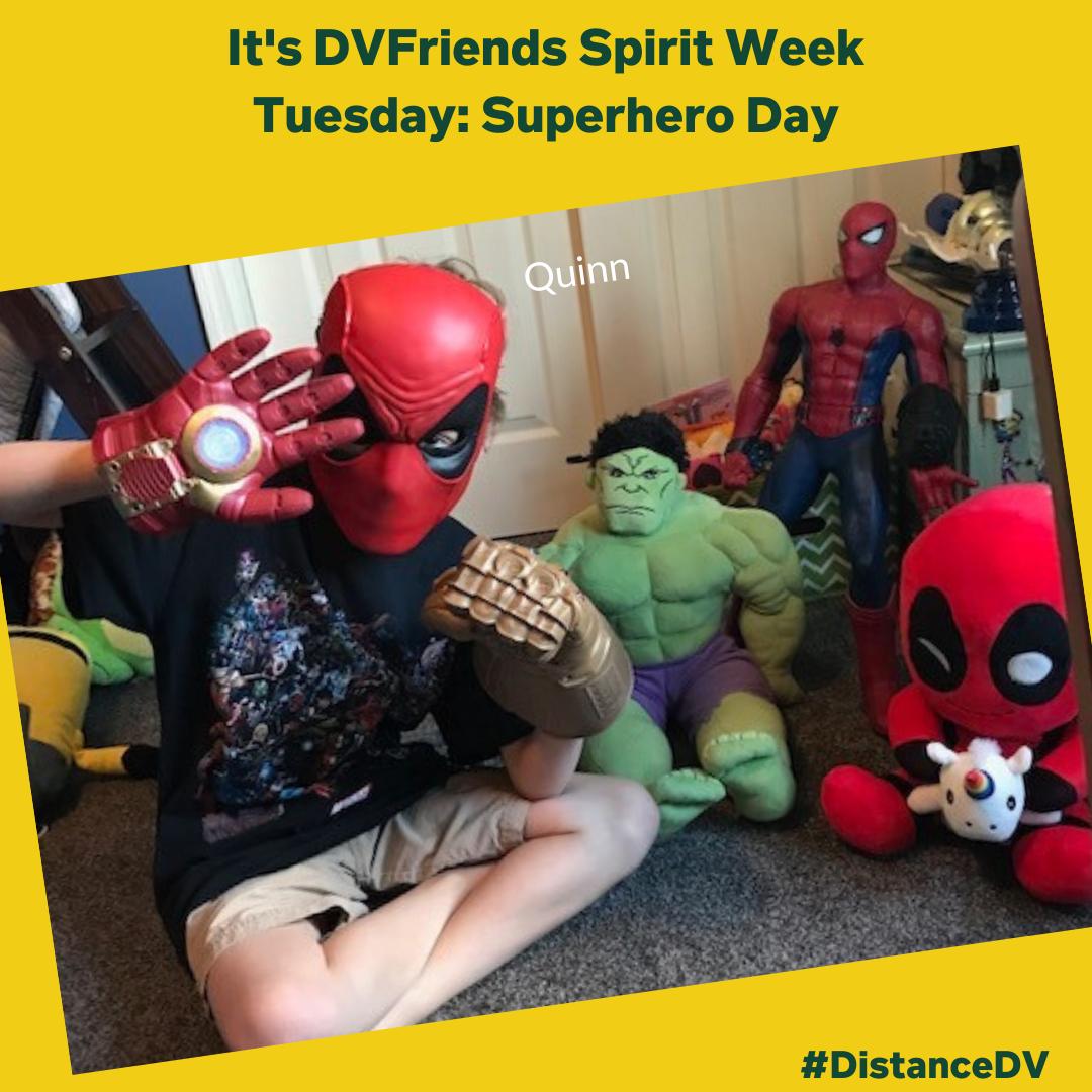 Superhero Day during Virtual Spirit Week