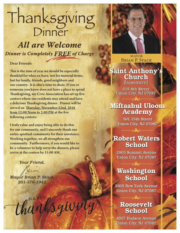 Thanksgiving Dinner flyer and invitation