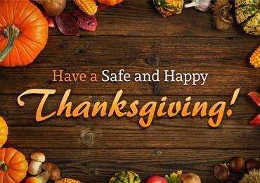 Thanksgiving Break-No Classes Thumbnail Image
