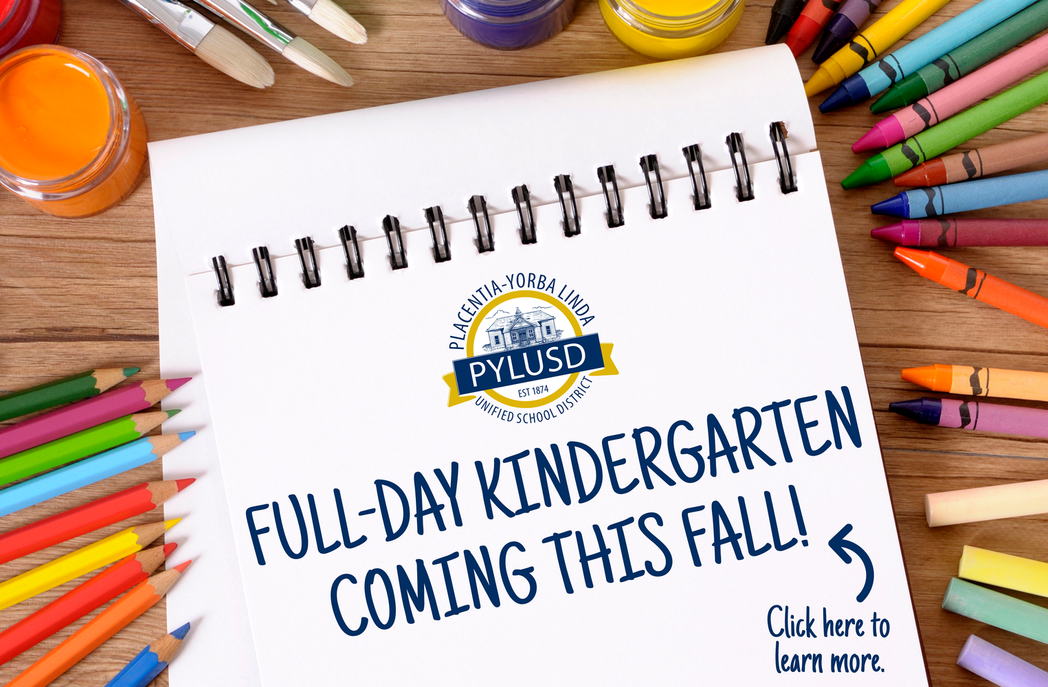 PYLUSD full-day kindergarten graphic.