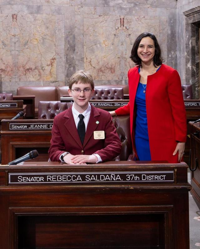 OLL Student Serves as Page in Washington State Senate Featured Photo