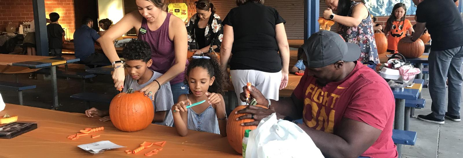 Thank you parents and family for making our 1st Pumpkin Carving Night a success!#proud2bepusd