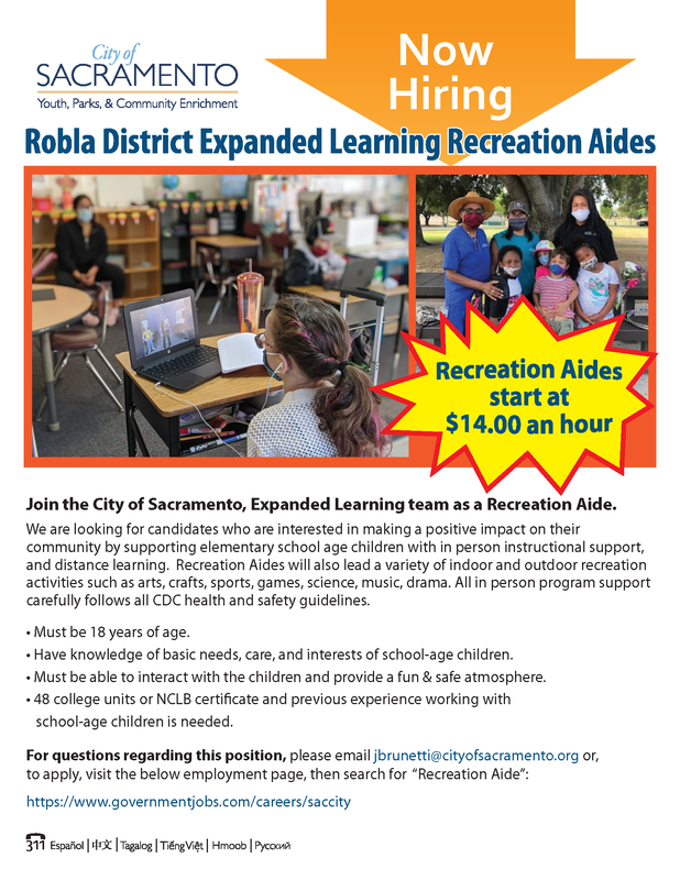 Image of START Program Aide Flyer.  Text on image is in the content of this post.