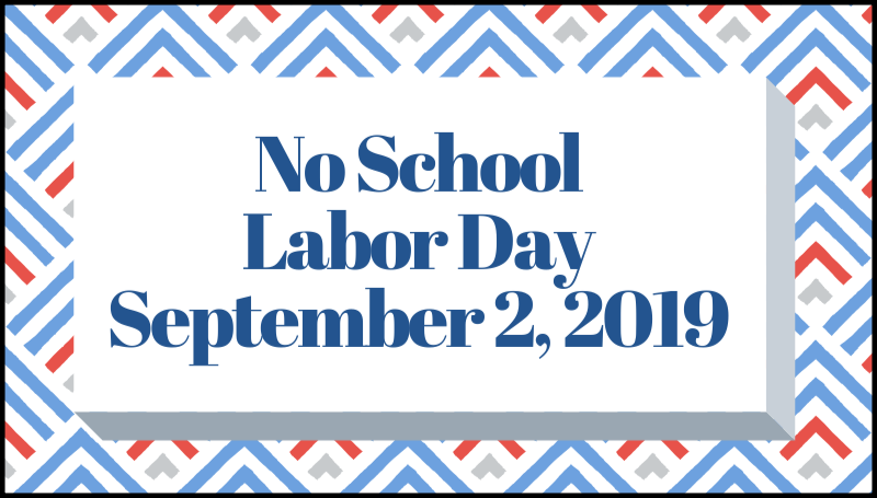 no school labor day september 2