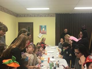 Jr Beta helping the PTT at their Hallween Party