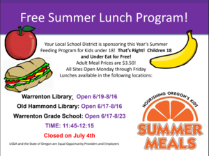 Free Summer Lunch Program Featured Photo
