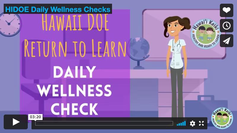 screenshot daily wellness check link to video