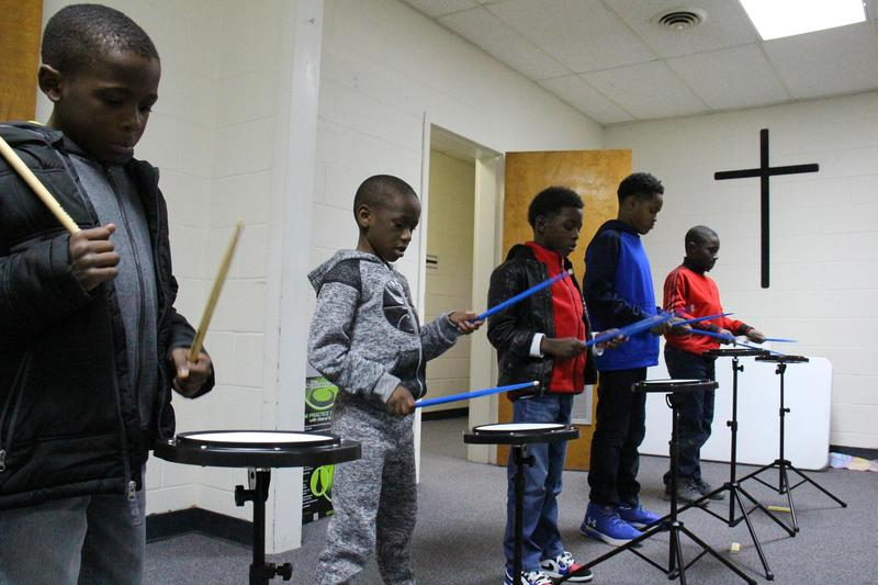 Mentoring Program Partners With Christ Community Church For Drum Lessons