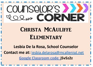 Mrs. De la Rosa's Google Classroom Code and email link