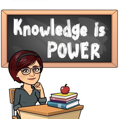 BITMOJI:  Knowledge is POWER!