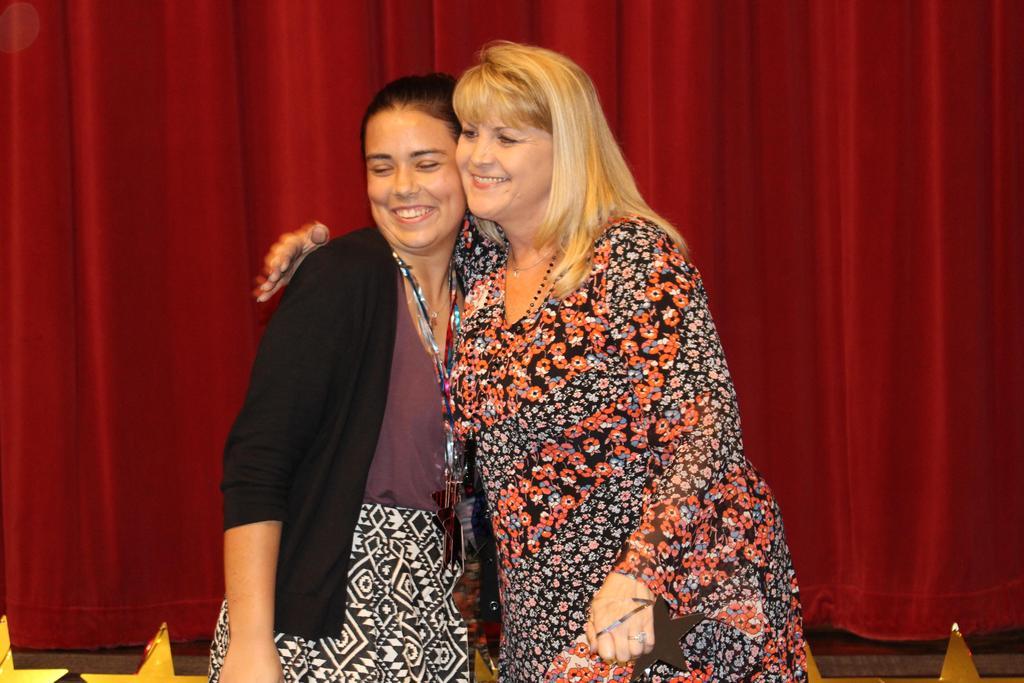FirstGen Scholarship $4,000 Brooke Barrett with Michelle Warren, WHS Counselor