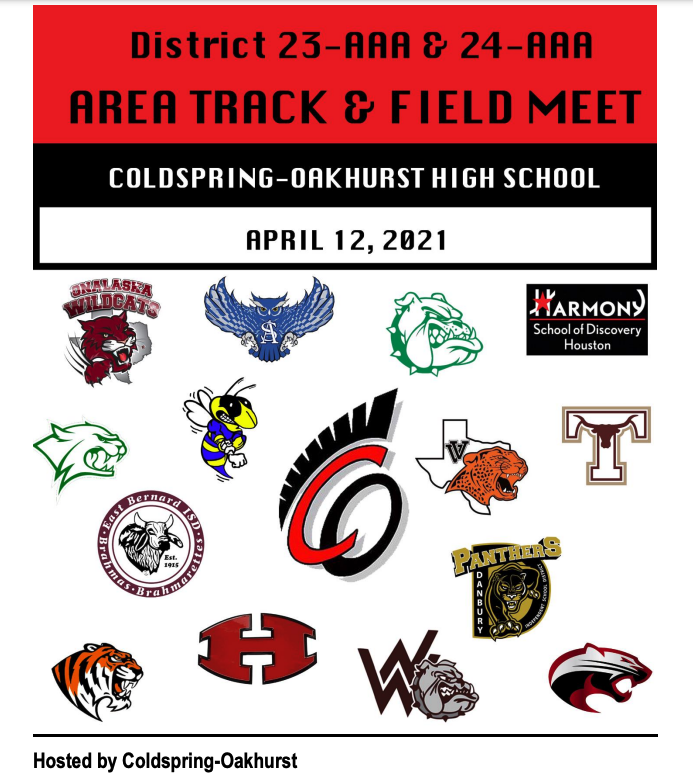 Area Track Meet on Monday, April 12th!  Free Livestream Available! Thumbnail Image