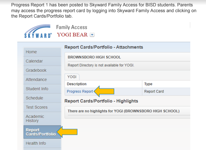Progress Reports Now Available On Skyward Featured Photo