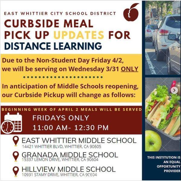 Curbside Meals April 2021