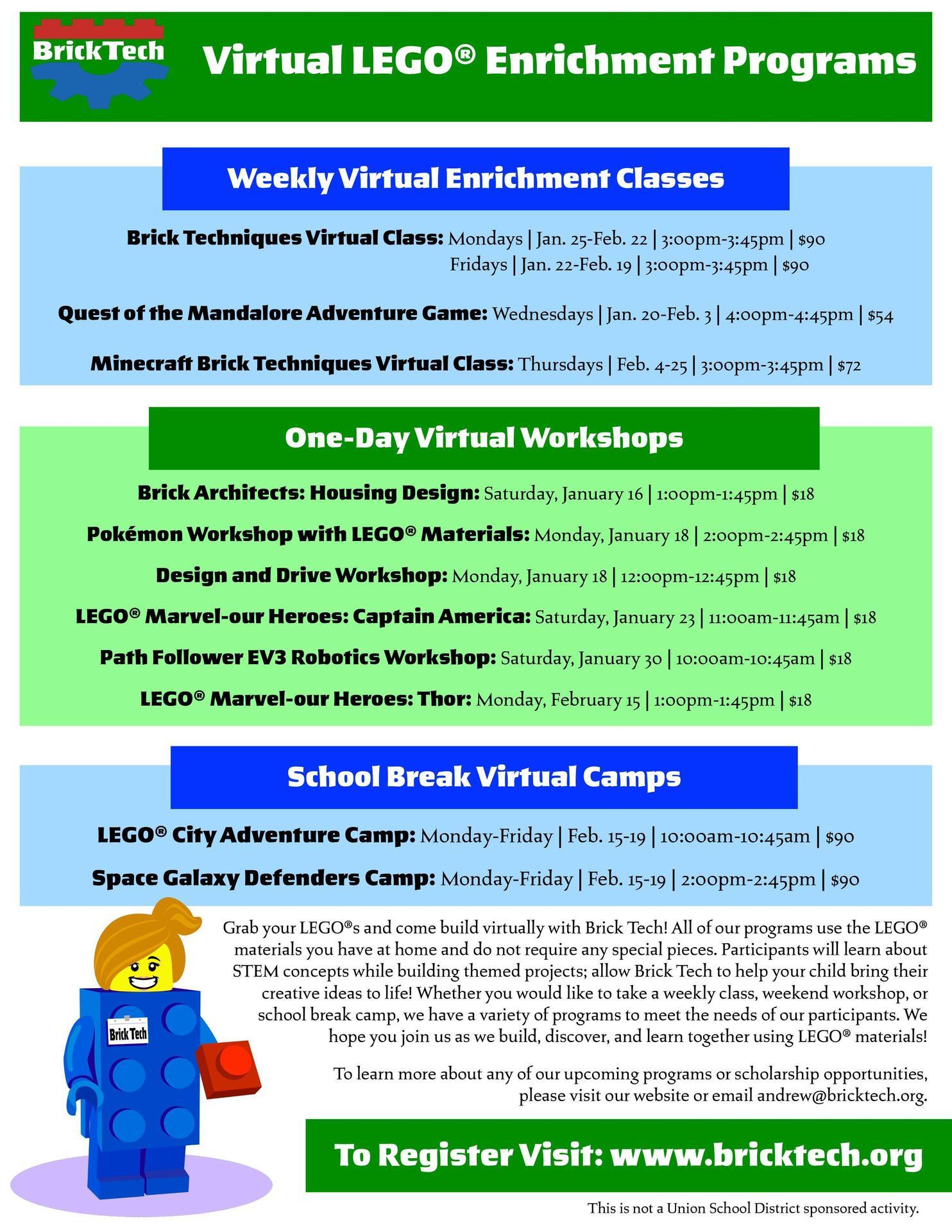 Virtual Lego Program
