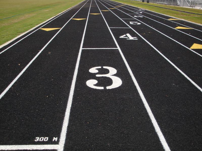 Picture of track starting line
