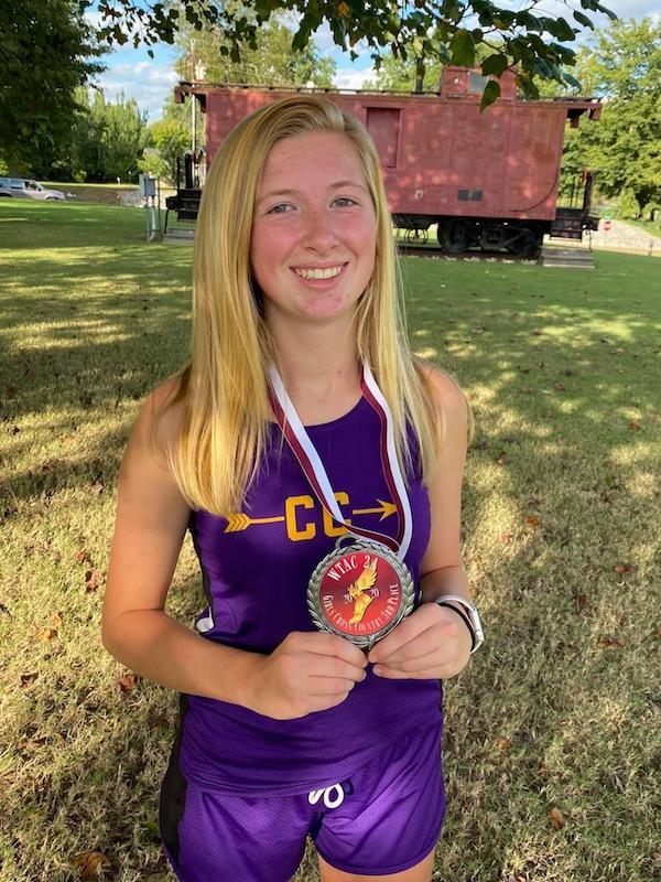 CMS Cross Country runner Kinlee Carver placed 3rd in WTAC cross country meet and conference meet on September 29. She had a personal best time of14:31. She was also awarded All Conference. She will advance to Statethis Saturday, October 3.