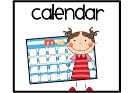 Clipart of child standing by calendar