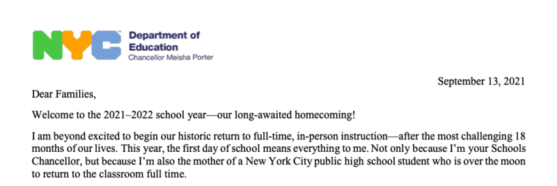**A Letter from Chancellor Porter** Featured Photo