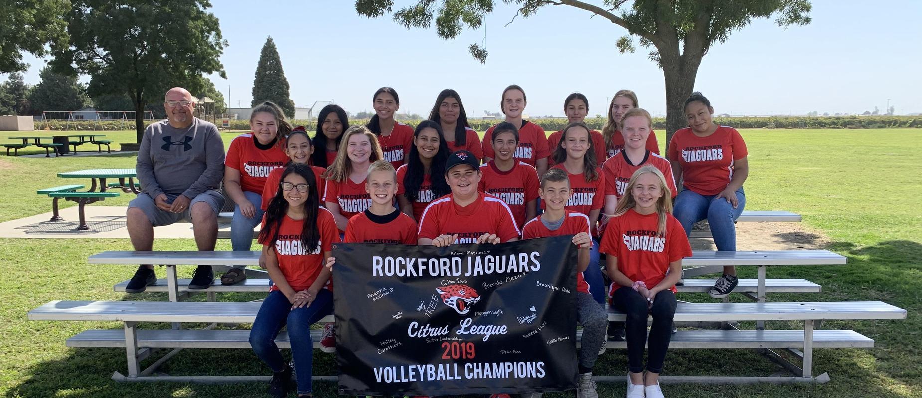 Volleyball team photo.