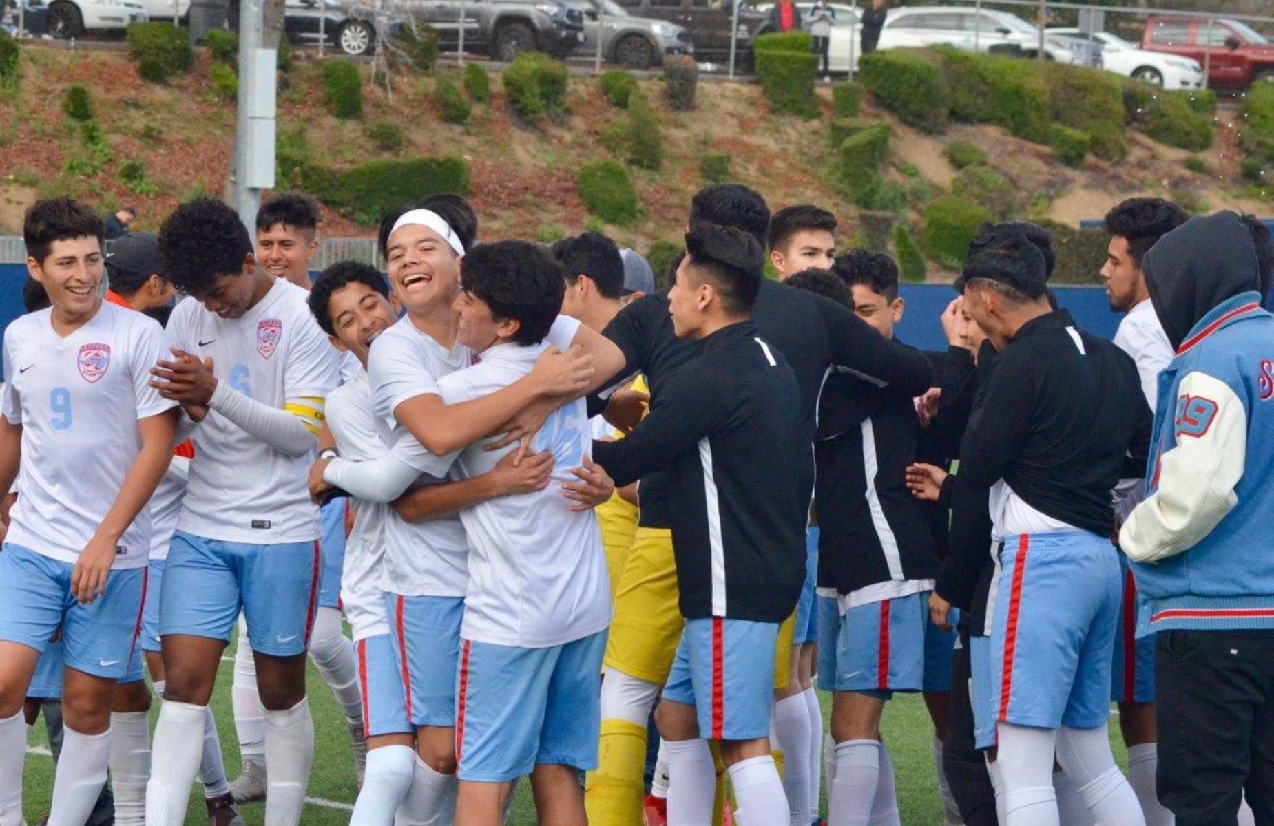 Ganesha Boys Soccer Team made it to the CIF FINALS after a 3-0 win vs Pasadena Poly!  So proud of our boys, congratulations to the players, coaching staff and everyone that cheered our GIANTS on to VICTORY! #Proud2BePUSD #GaneshaGIANTS @ganeshahighPUSD