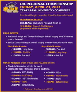 Regional Championship Track Schedule -- Friday 4-23.png