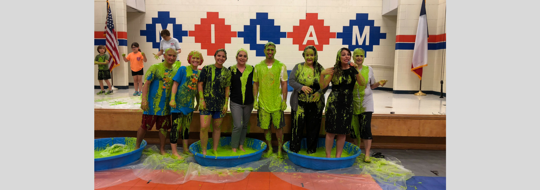 Jump Rope for Heart coaches get slimed!