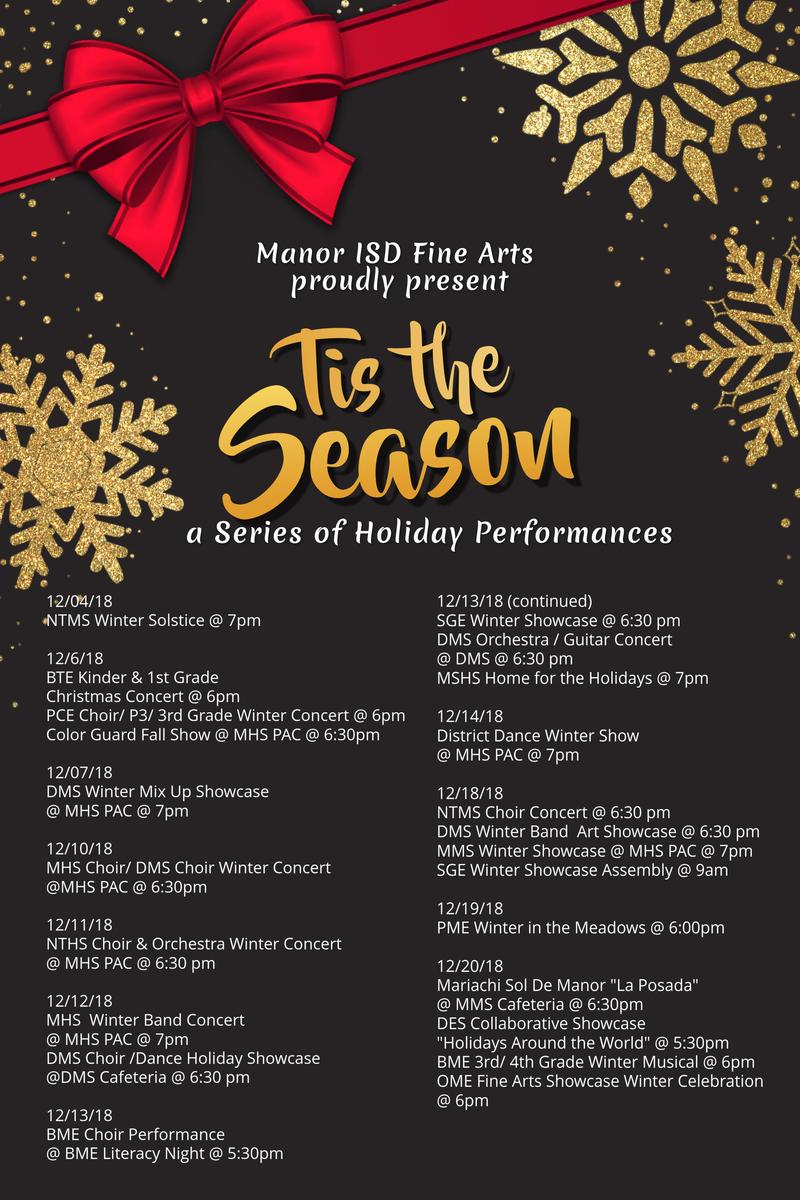 Tis the Season District Wide Fine Arts Holiday Performances Thumbnail Image