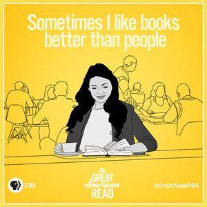 I like books better than people.