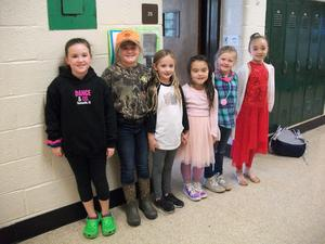 Students dressed for Career Day.
