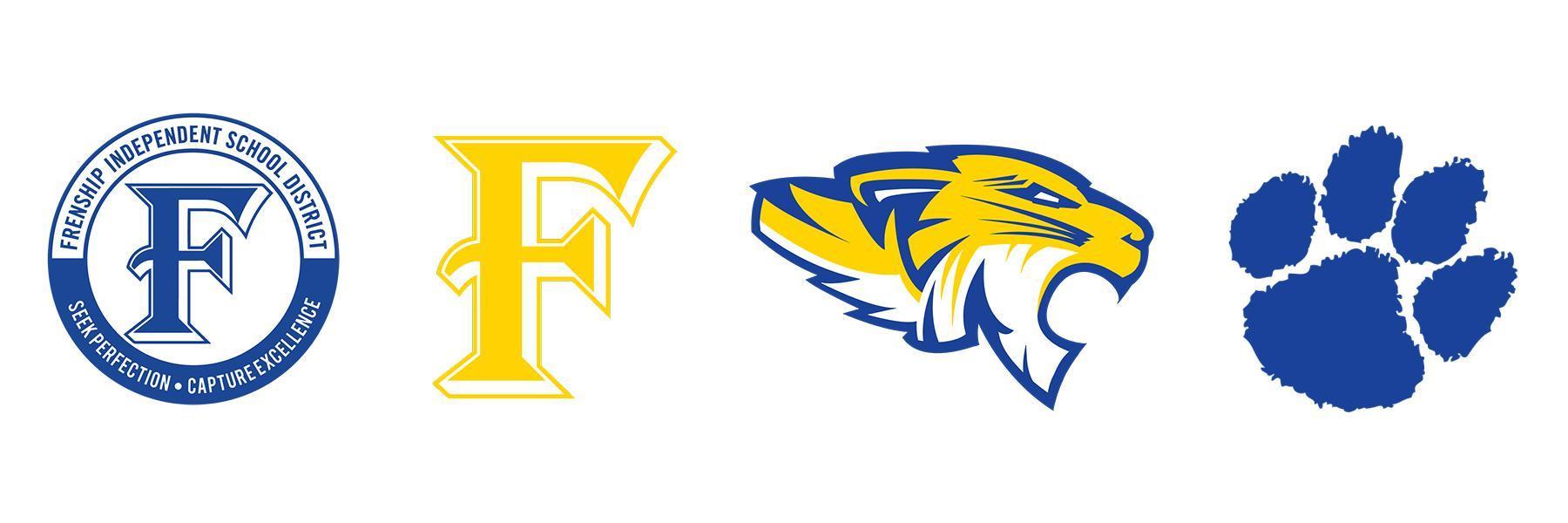Frenship ISD Seal, F Logo, Tiger Head, Tiger Paw