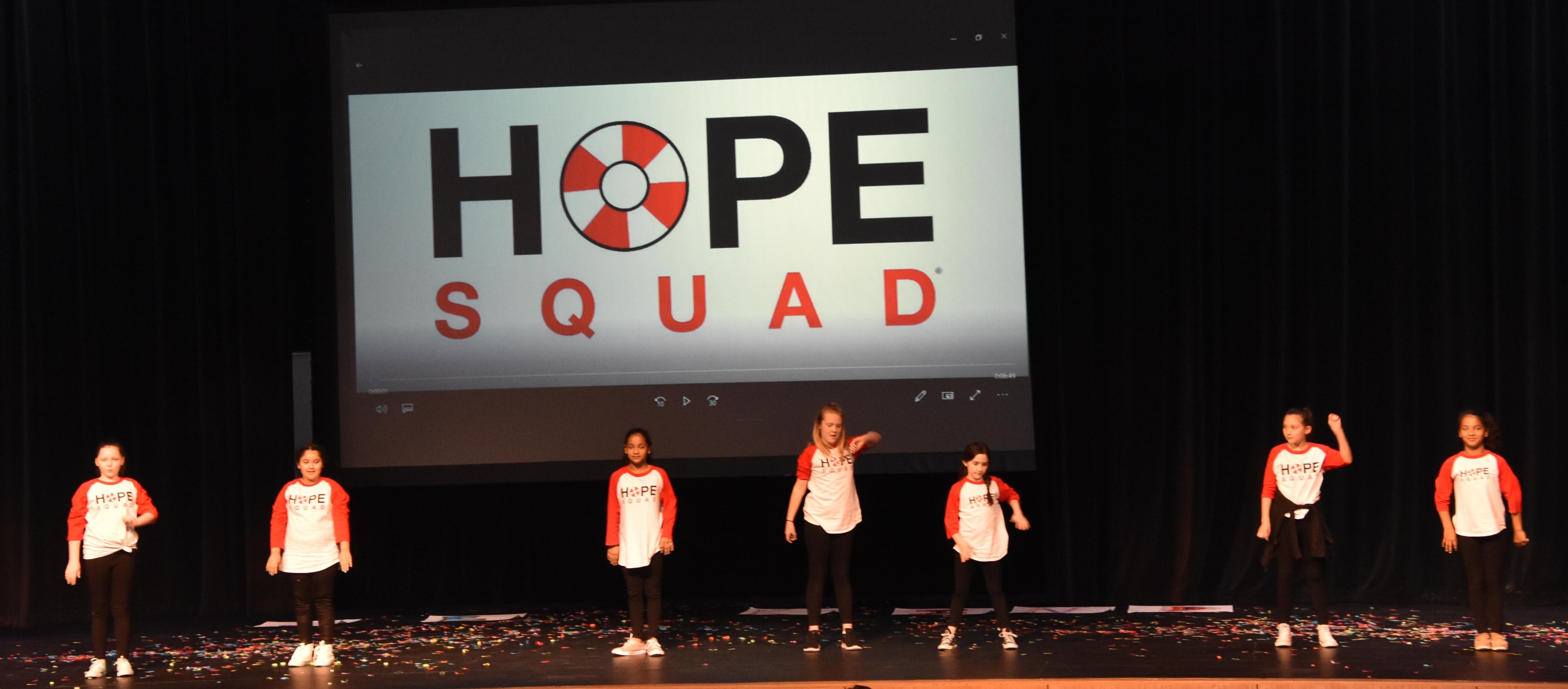 "Liberty Elementary HOPE Squad performs to ""Titanium."""