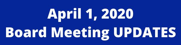 April 1 Board Meeting Updates Thumbnail Image