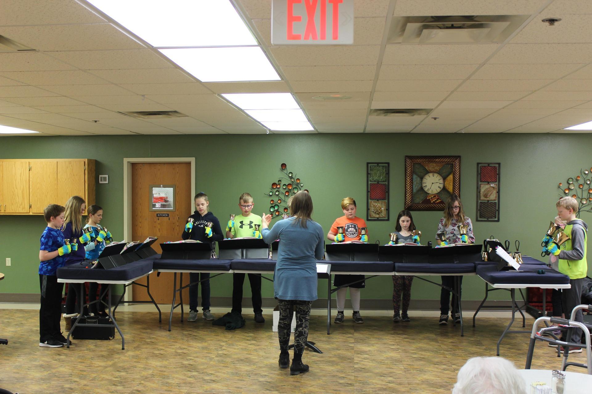 Handbell performance in community