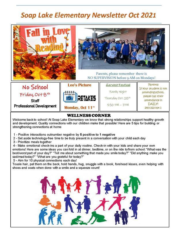 10/1/2021 Elementary Newsletter October 2021 Thumbnail Image