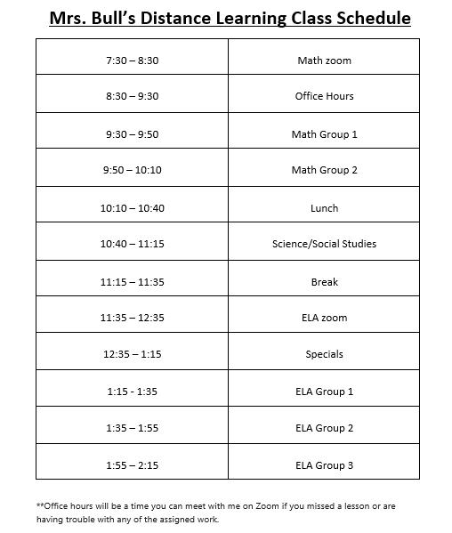 updated DL schedule