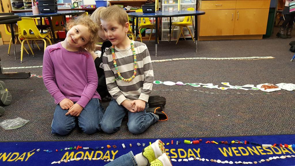 Children Counting 100 legos