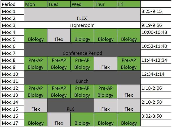 Green Week Schedule