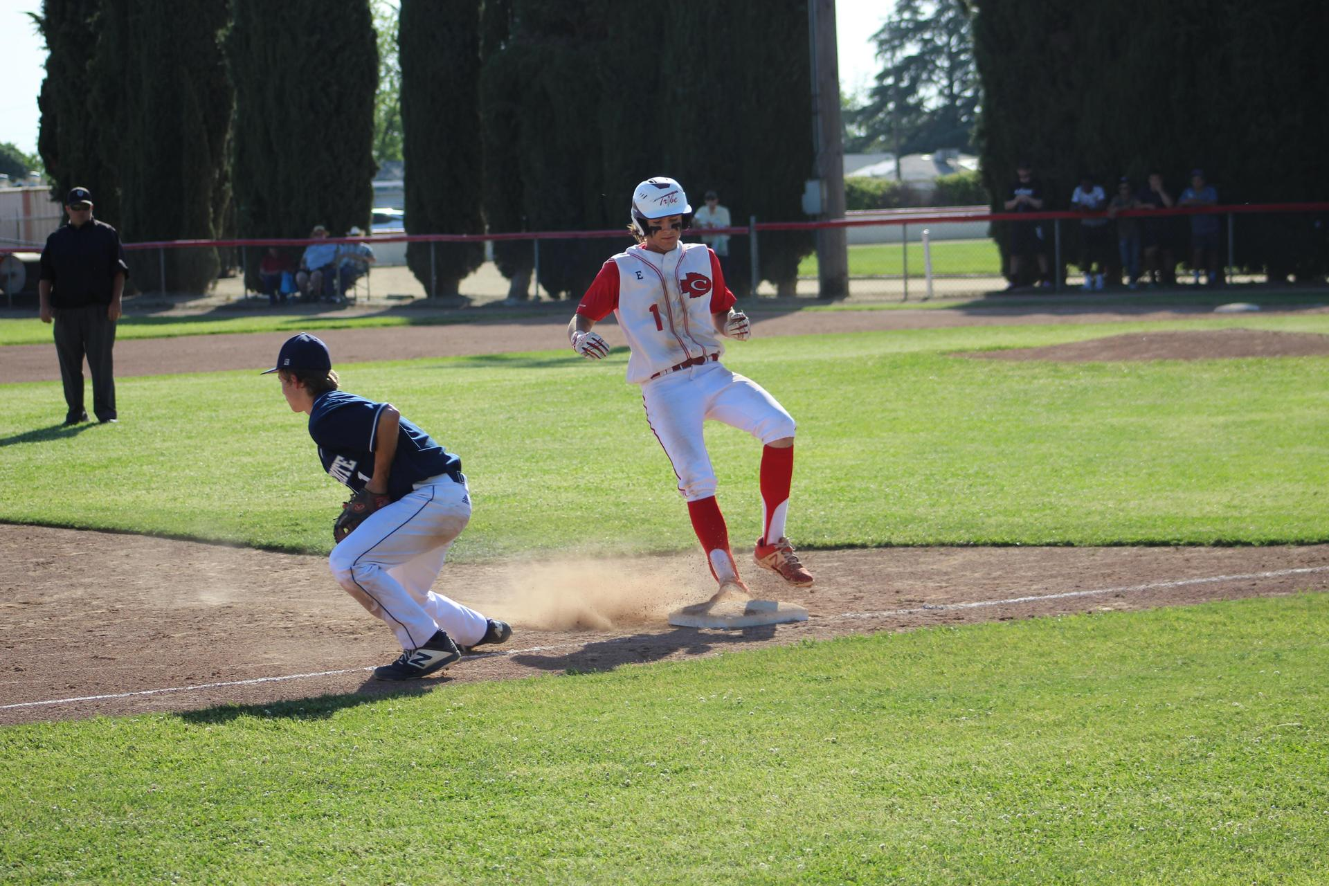 Baseball players in action against Yosemite