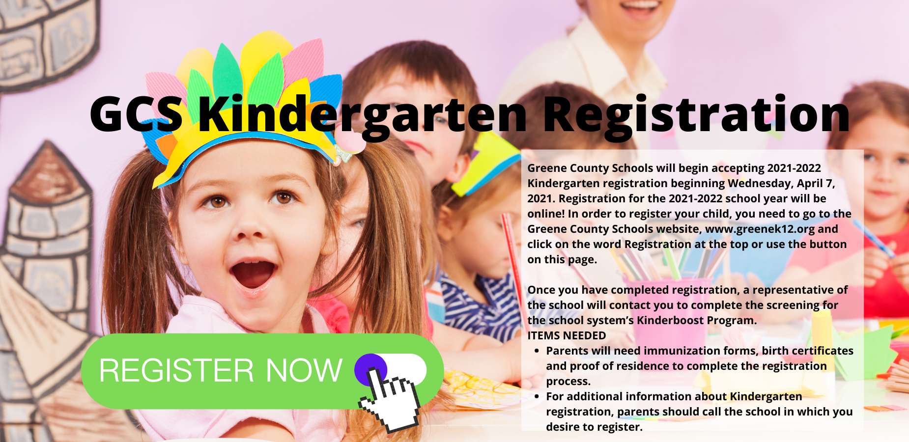 GCS Kindergarten Registration
