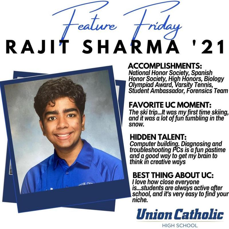Rajit Sharma Has Made His Presence Felt at Union Catholic Thumbnail Image