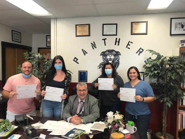 Group photo of tenured teachers