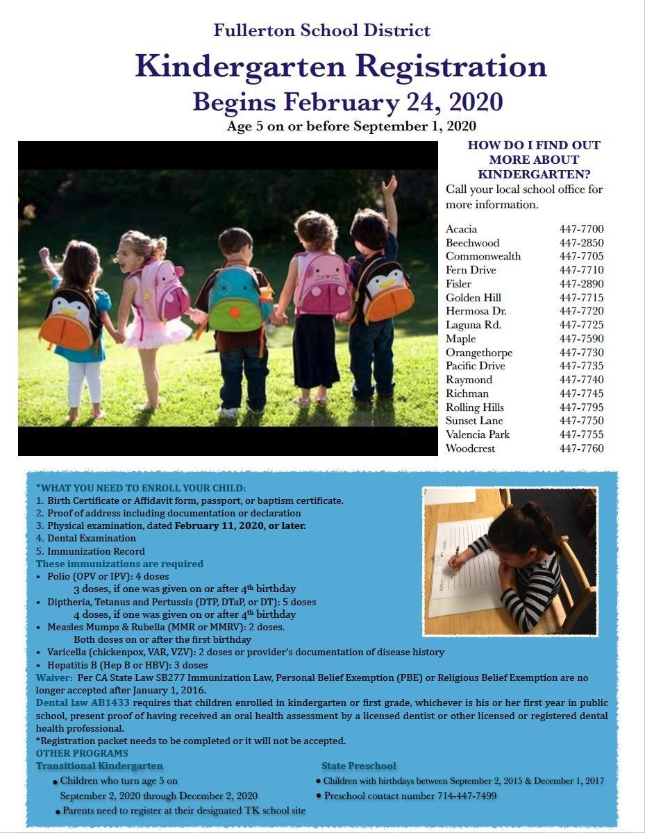 Image of Kindergarten Flyer